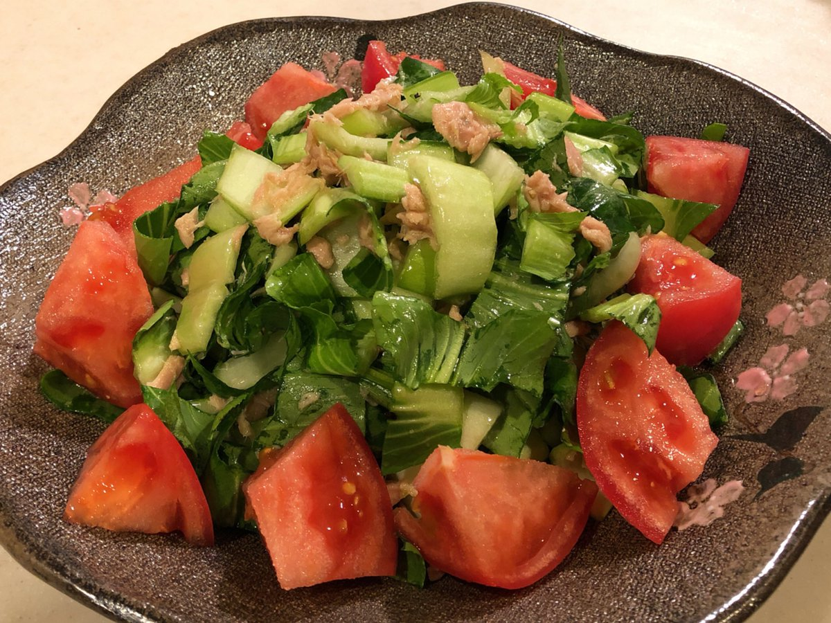 チンゲン菜サラダ俺のバンメシです