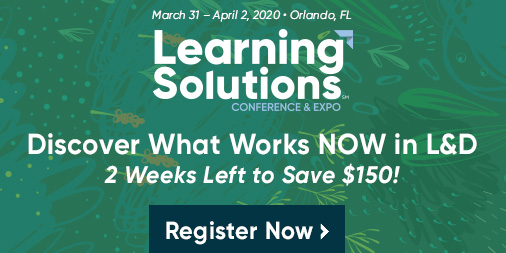 Only 2 weeks left to save $150 on your #LSCon registration! Discover best practices and proven solutions in learning and development this spring. Register here: bit.ly/2Yj5oC2