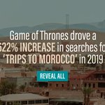 The @GameOfThrones getaway 🇲🇦 - @Captify's #SearchIntelligence reveals one of the big travel trends that consumers are going crazy for. Discover more game-changing travel insights here 👉 https://t.co/x29ctTggHo #TravelInsights #GameofThrones @HBO
