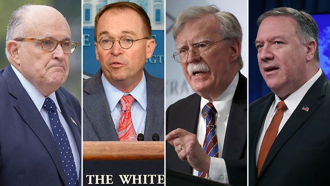 Remember, BOLTON isnt the only witness who can testify to a quid pro quo. GIULIANI can confirm it. And PARNAS. And FRUMAN. And PERRY. And NUNES. And HARVEY. And POMPEO. And DIGENOVA. And TOENSING. And MULVANEY. SONDLAND told VOLKER and TAYLOR he was aiding a TRUMP quid pro quo.
