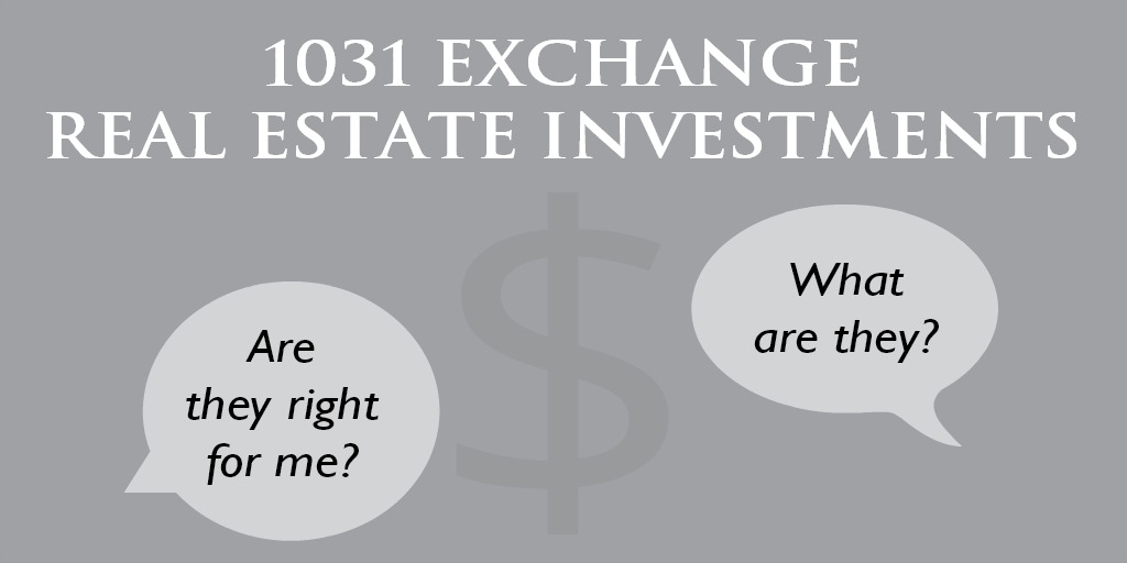 What are 1031 Exchange Real Estate Investments and Are They Right for You? Rudy Boroomand, Corporate Controller @TrionProperties explains their value and use. #investing #realestateinvestor #financialeducation http://bit.ly/2OjdoOJpic.twitter.com/syjN1YMuz5