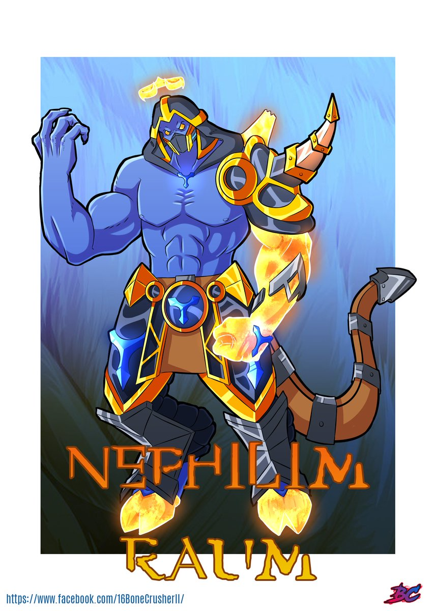 The most cruel fallen angel. Rejected for his demoniac nature, Nephilim Raum will do anything the Pyre won't. @PaladinsGame #Paladinsart #paladins <br>http://pic.twitter.com/gNjmCl81u0