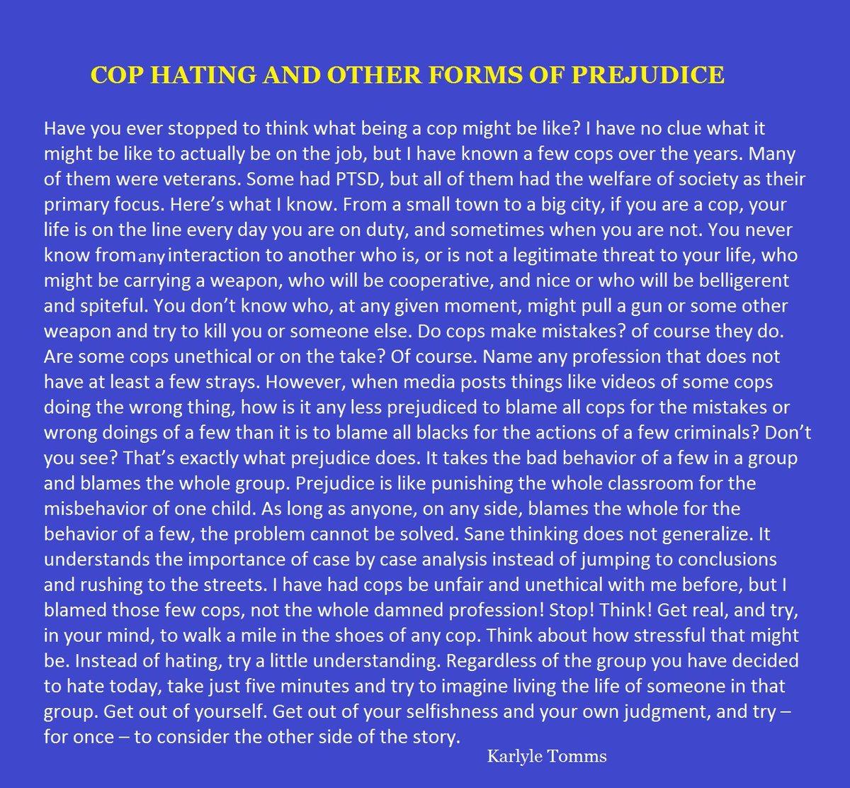 A mini Commentary: #blacklivesmatter #bluelivesmatter  http://karlyletomms.compic.twitter.com/l4vnpEKxMX