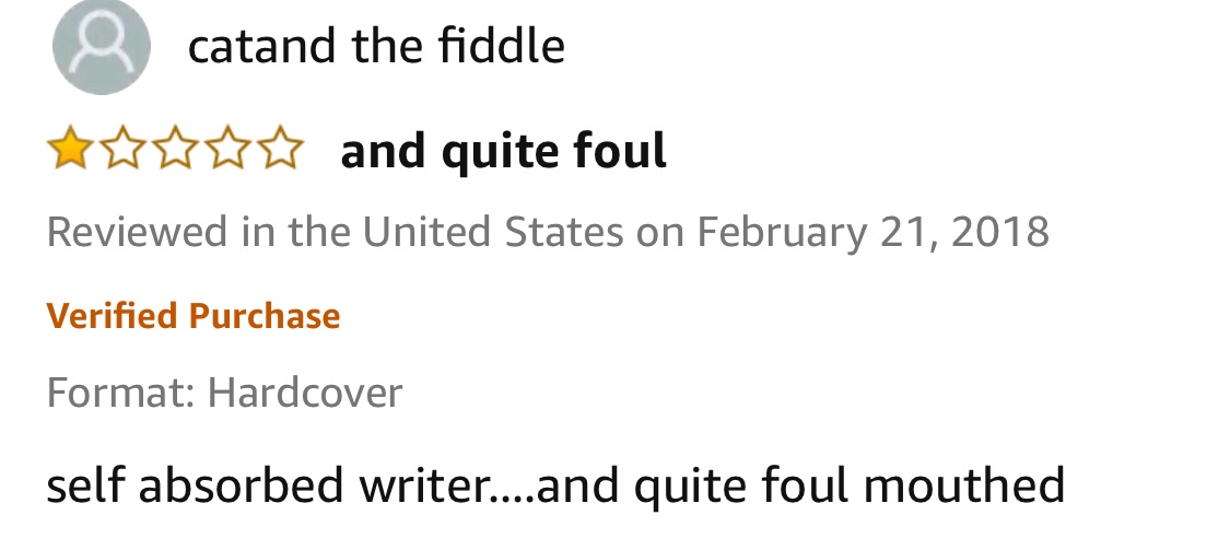 @mbeith My favorite review of my book