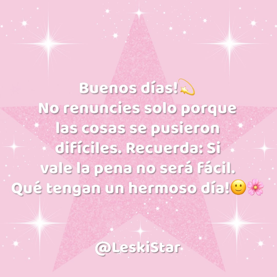 Good morning!  Do not give up just because things got tough. Remember: If it's worth it, it won't be easy. Have a beautiful day!  #leskistar #leskivlogs #happyday #love #dream #smile #behappy #blessed #thankful #youtuber #youtubechannel #frasesbonitas #feliziniciodesemanapic.twitter.com/tZe7IeUQD8
