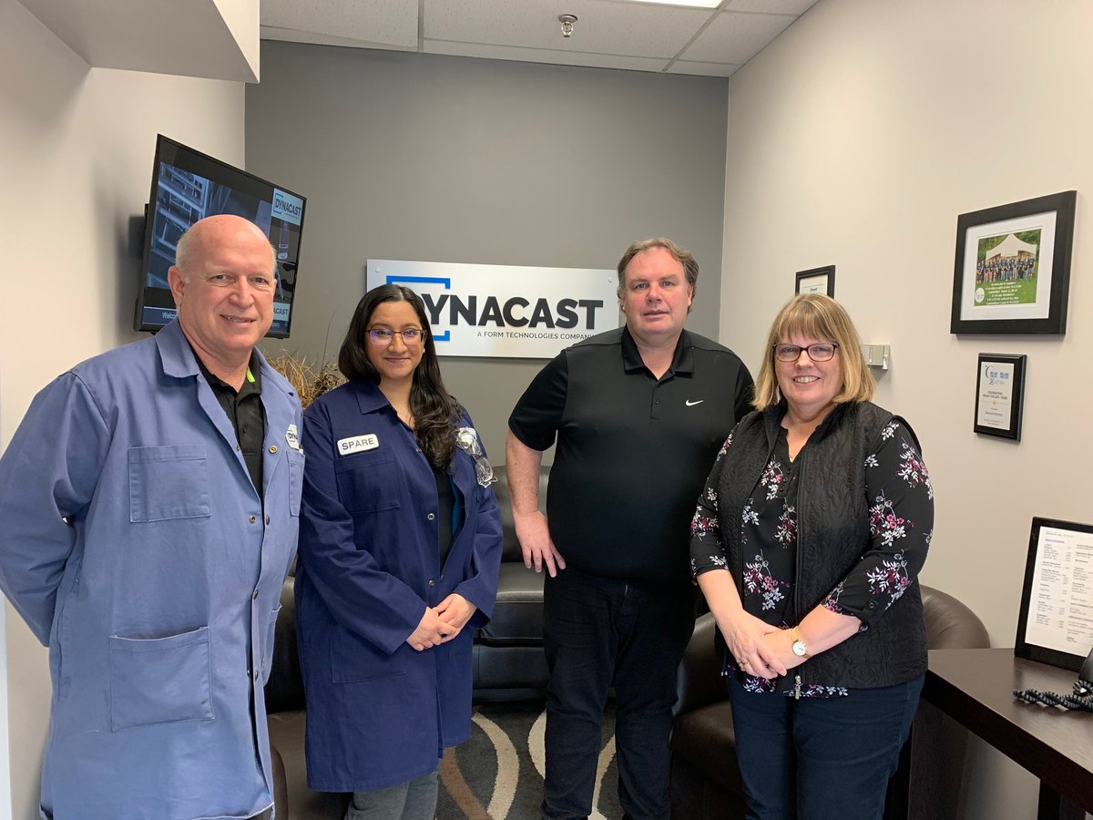 Our industrial innovation team led by Judy Selvig is in #ptbo today at @Dynacast_Global!<br>http://pic.twitter.com/YKpBLof6LS