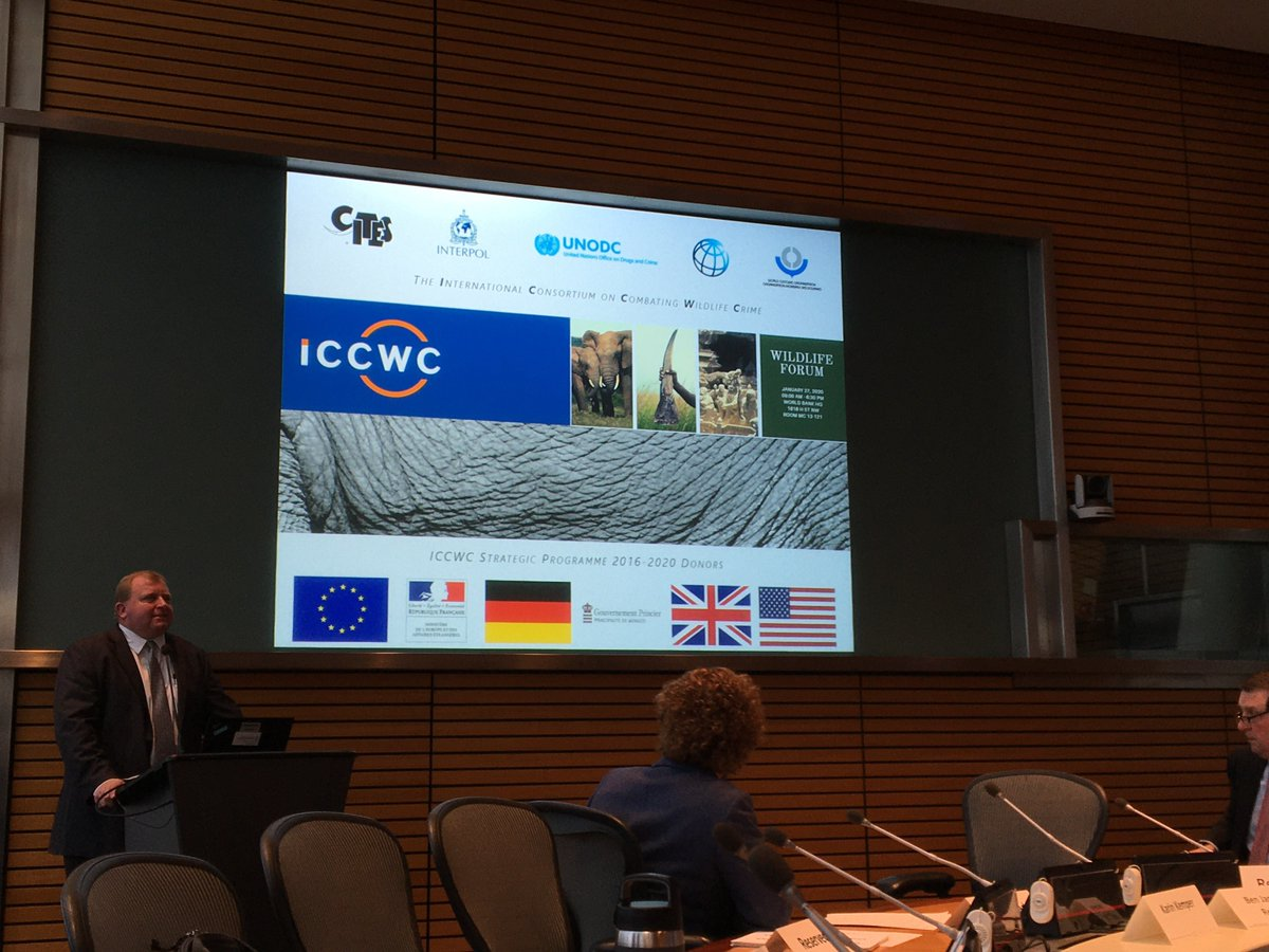 #HappeningNow: the CITES Secretariat is attending the @WorldBank-led #WildlifeForum to discuss strengthening the tools developed by #ICCWC, the global alliance to combat #WildlifeCrime & #WildlifeTrafficking: bit.ly/37ADeq4
