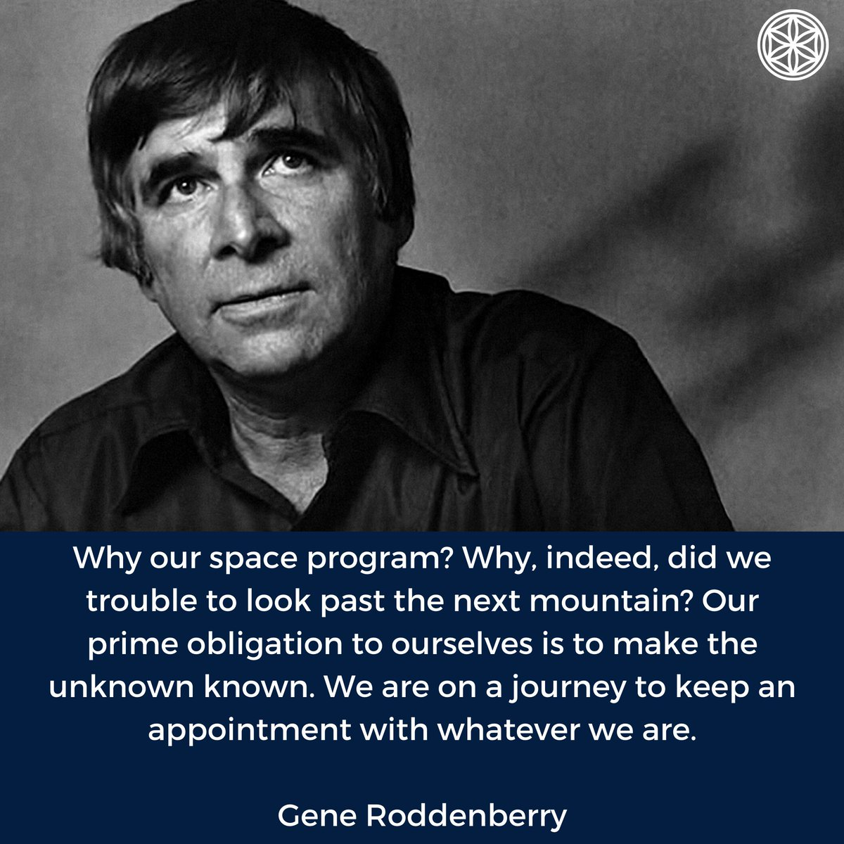 Today we want to share the wisdom of the iconic screenwriter and creator of the original Star Trek series, Gene Roddenberry. Do you agree that it is our obligation to make the unknown known?  #AsgardiaSpaceNationpic.twitter.com/GdW4edhN3Y