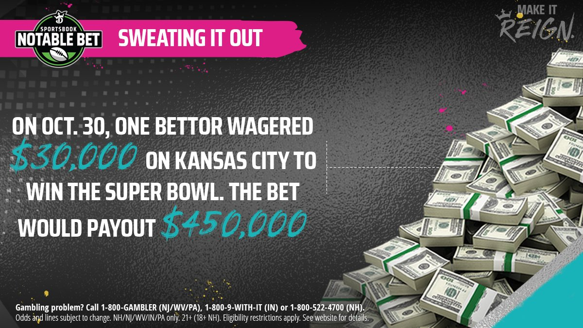 A massive ticket on the Chiefs to win the Super Bowl was placed back in October #MakeItReignpic.twitter.com/0LB3amTmJy