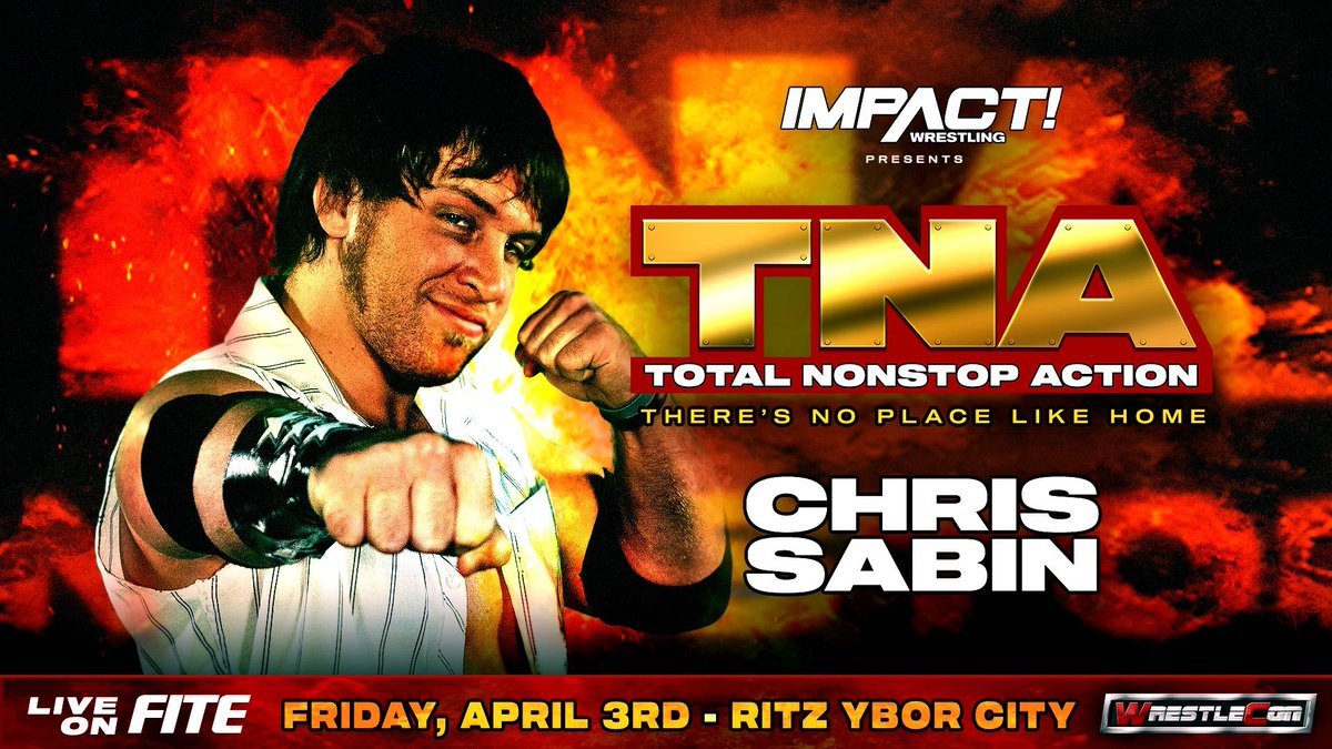 Chris Sabin Set For TNA: There's No Place Like Home PPV During WrestleMania Week