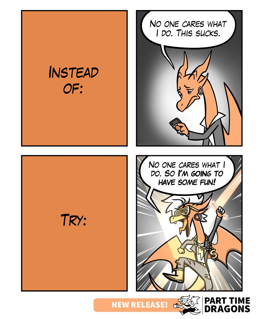 Dance like nobody's watching. #motivation #dragons Retweets much appreciated! <br>http://pic.twitter.com/wWVGPGVSIn
