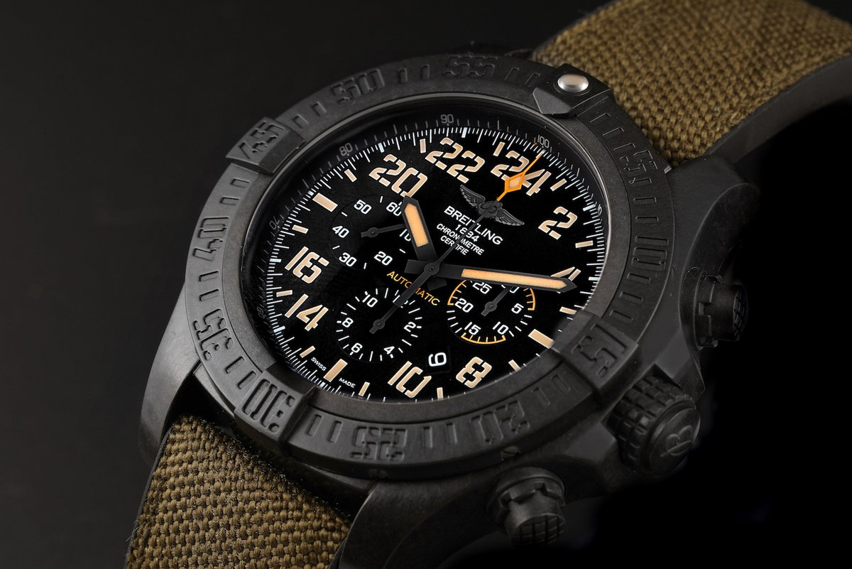 The Breitling Avenger Hurricane 45 Military Watch is made of Breitlight, a sturdy material that boasts being 3 times lighter than titanium, and 6 times lighter than steel.  https://swisswatchexpo.click/breitling-hurricane50…  #Breitling #BreitlingAvenger pic.twitter.com/JOYmV4fr0b