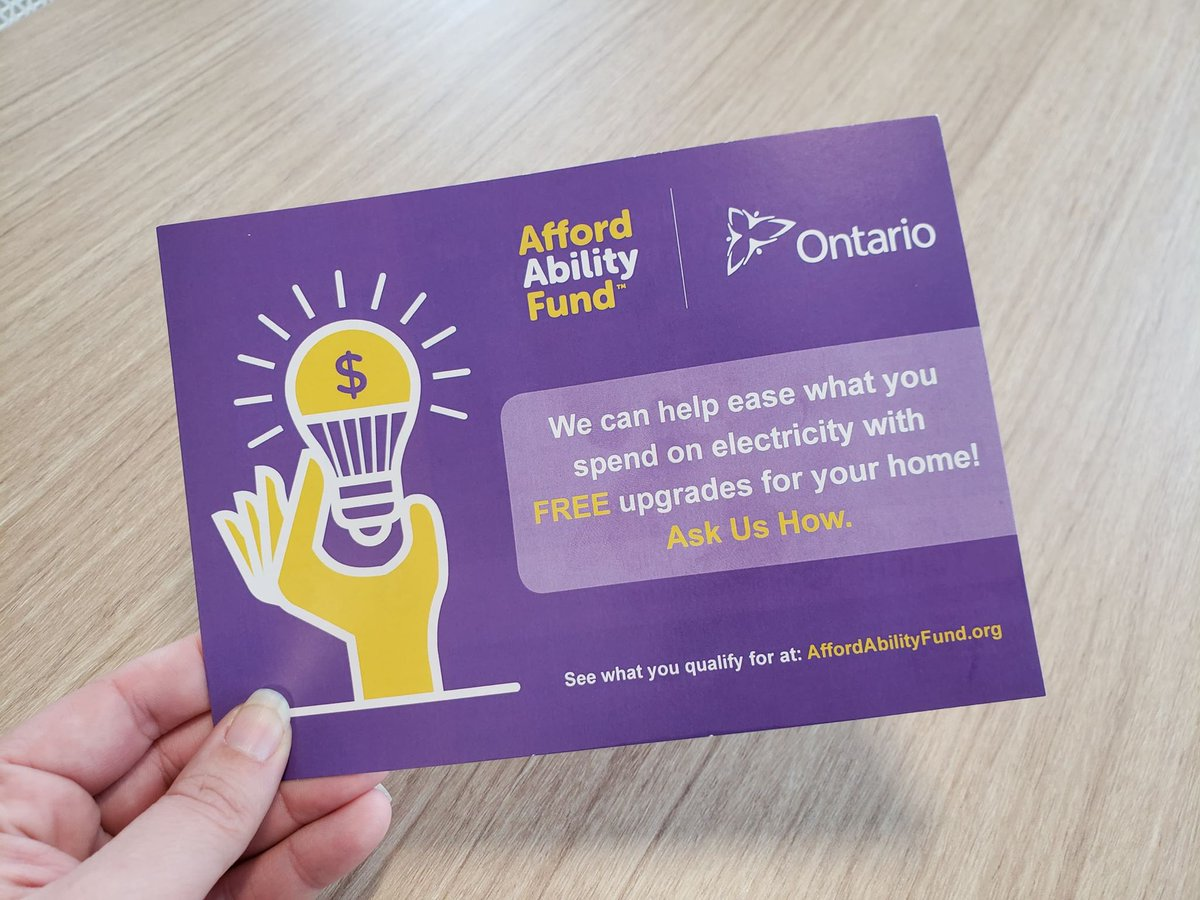 Did you stop by our booth at the @OttawaHomeShows last weekend? If you picked up one of these #AffordAbilityFund cards, be sure to complete your application online or by phone to see which FREE energy upgrades you qualify for.   http://affordabilityfund.org pic.twitter.com/y7dj7oCLfx