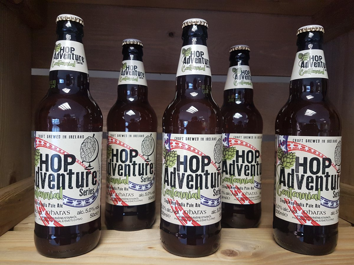 Back to the US for the 7th edition of the Hop Adventure series by selecting the Centennial hop for our latest brew. A single hop IPA full of flavours of citrus and mango ending w/ a crisp grapefruit bite. Available soon in off-licences and retailers nationwide. #DrinkResponsibly <br>http://pic.twitter.com/JQtNuLYY2W