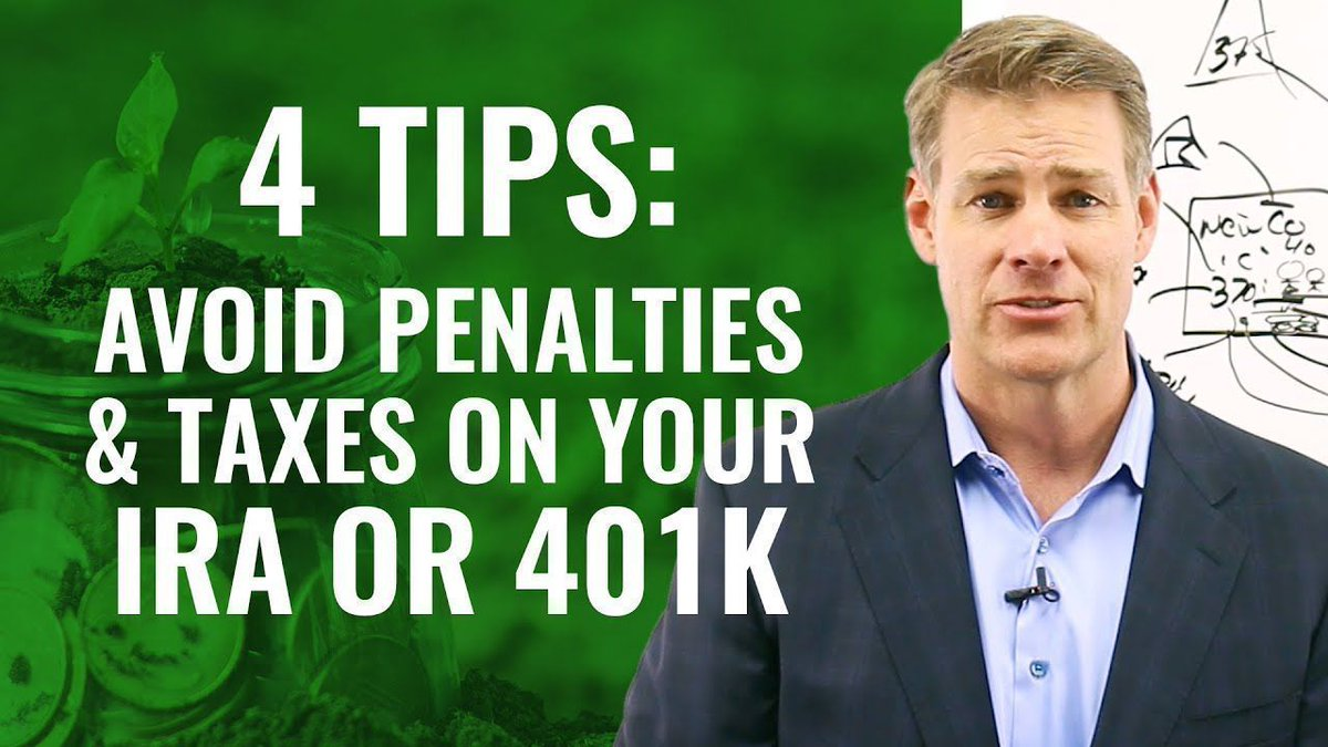 4 Tips To Avoid Penalties And Taxes Accessing Your IRA or 401K https://buff.ly/2W60cmr #realestateinvestor pic.twitter.com/29rDZuKG3Q