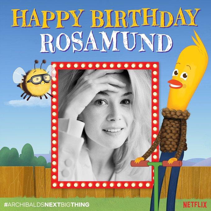 Happy birthday to everyone s favorite narrator, Rosamund PIke!