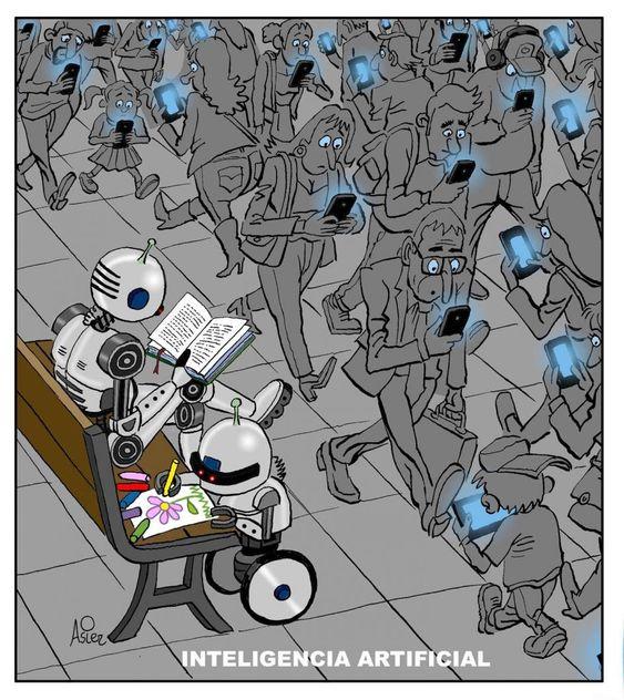 🎨 Ilustración por @asiersanznieto.  #AI #ArtificialIntelligence #IA #InteligenciaArtificial