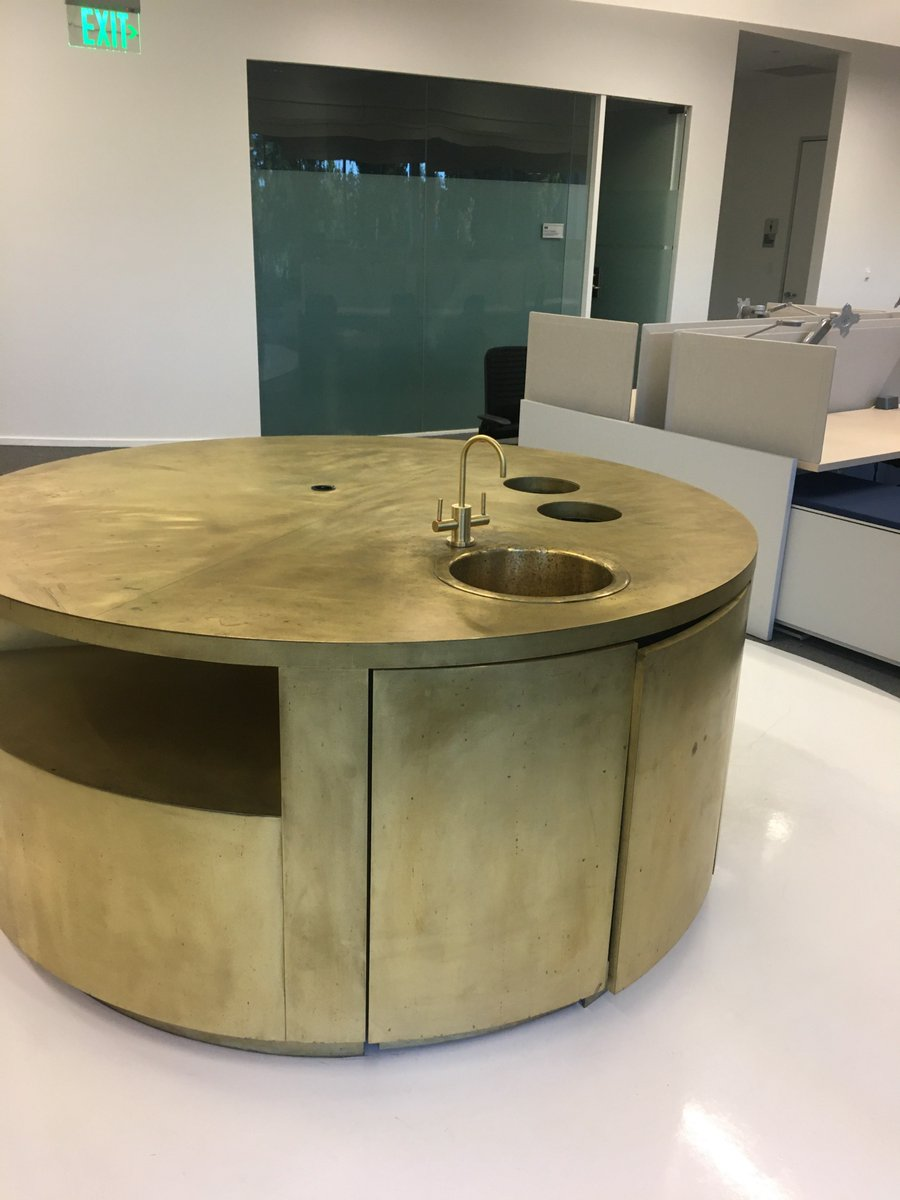 "OneZero on Twitter: ""The giant, circular brass sink tables were"