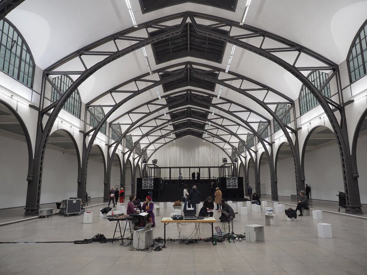"""The special concert by Contagious as part of the """"Bergama Stereo"""" installation by Istanbul-based artist and musician Cevdet Erek, starts in 30 minutes at Hamburger Bahnhof #CTM2020 Photo: Udo Siegfriedtpic.twitter.com/MF3wx6ktOJ – at Hamburger Bahnhof – Museum für Gegenwart"""