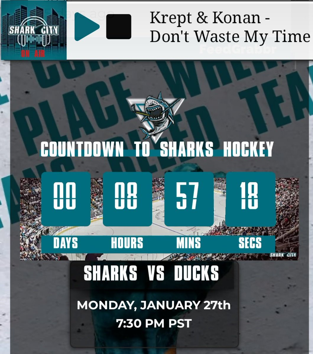 Gameday is all the #MondayMotivation that we need.  Let's Go #SJSharks  Check out our 24/7 live stream at http://sharkcitylive.com pic.twitter.com/xqtD6QBO6h