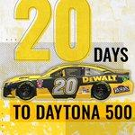 Image for the Tweet beginning: 20 days till the #Daytona500!