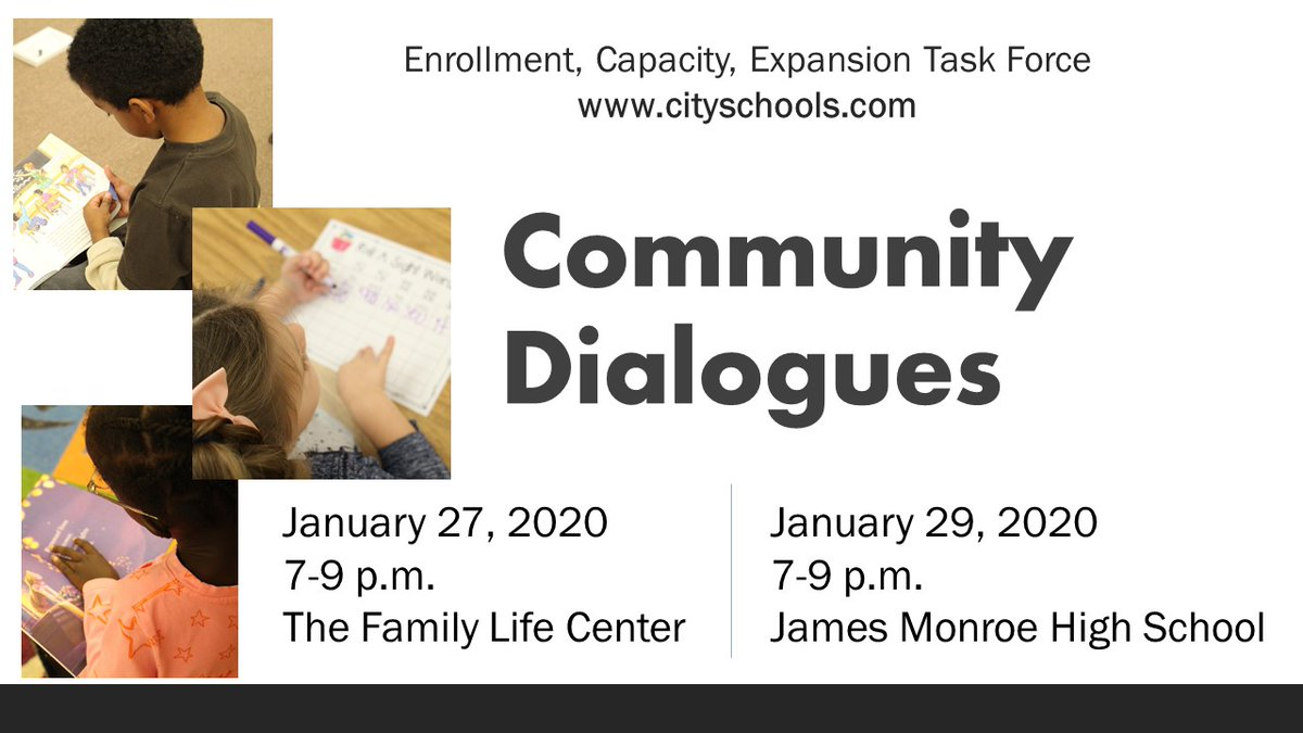 Tonight 1/27: #FXBG Community Dialogues on FCPS Enrollment, Capacity, Expansion from 7pm-9pm at The Family Life Center. Bus routes are posted for those who need transportation and childcare will be available. https://bit.ly/2NWUCNYpic.twitter.com/eriXRiLlmH