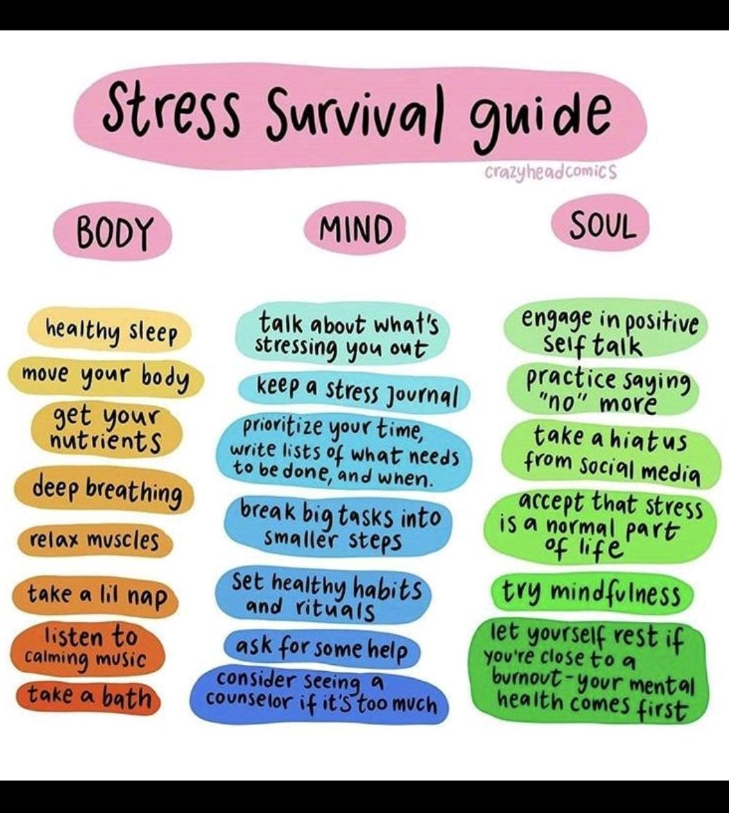 Stress survival guide - Loving the simplicity x #stress #mentalhealth #sleeping #positivitypic.twitter.com/SSn3E1S0Hs