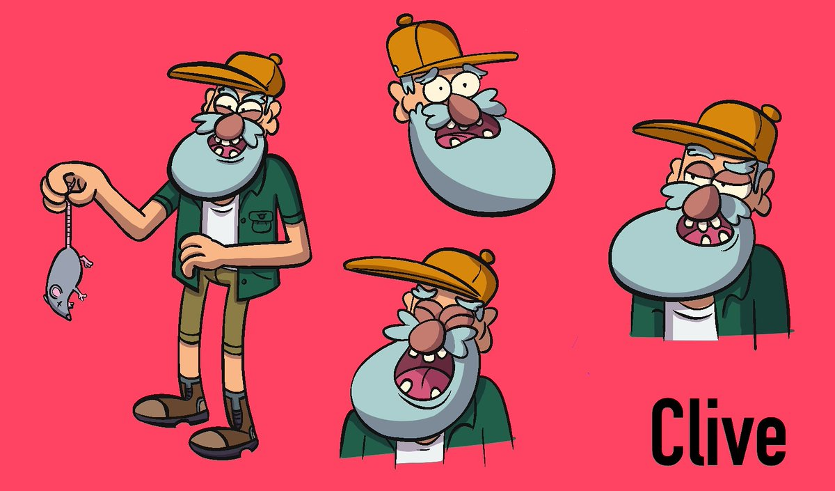 This is Clive. His diet consists of rat meat and fizzy orange juice. . Messing around with the simplicity of the Gravity Falls character styles. pic.twitter.com/CbepyNcjvl