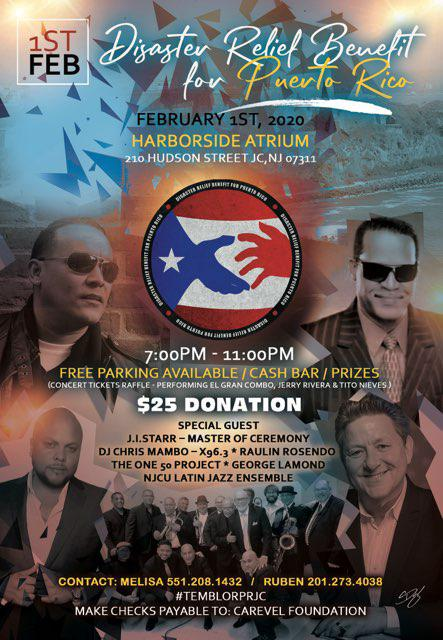 Disaster Relief Benefit for Puerto Rico happening this Saturday, February 1st, 7-11 PM. Any questions can be directed to Hard Grove.#jerseycity #hdsid #downtownjc #temblorprjc #reliefbenefit@HardGrove284