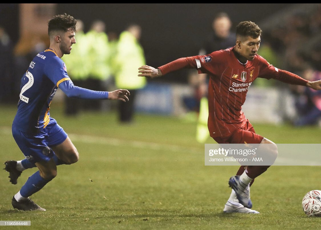 What a night last night to come back and earn a replay at Anfield👏🏼 @EmiratesFACup 🏆 Thanks for all the support top class all night🔝🔷🔶 @shrewsweb https://t.co/IGmyPxdrGJ
