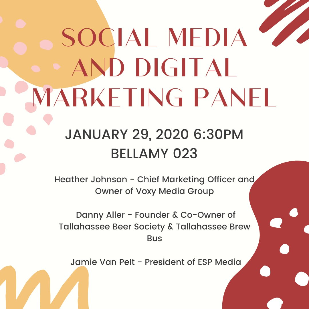 This week we will be hosting a panel of speakers to talk about social media and digital marketing!🤩
