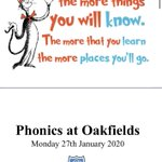 Image for the Tweet beginning: A very informative phonics evening