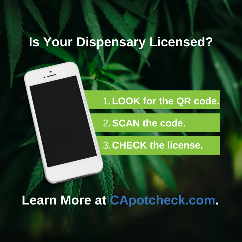 Not sure if your #cannabis retailer is licensed? Get #weedwise in 3 steps: 1) LOOK for the QR code, 2) SCAN the code with your smartphone camera, and 3) CHECK their license status. #CannabisNews #CannabisIndustry #CannabisCommunity #WeedWise @UCBA_Networkpic.twitter.com/dBCaGxct8V