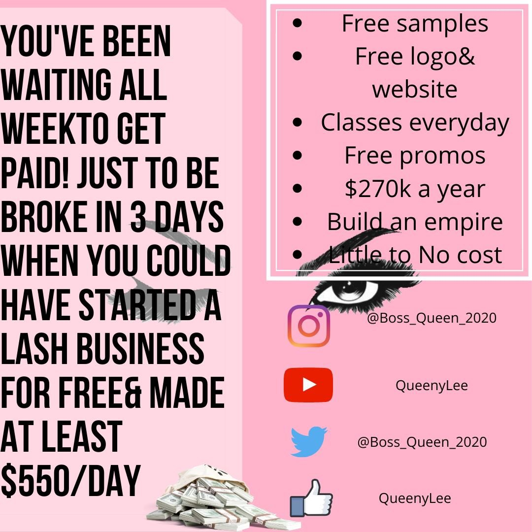 Follow and dm @boss_queen_2020   #love #hustle #business #motivation #likes #followforfollow #success  #lashes