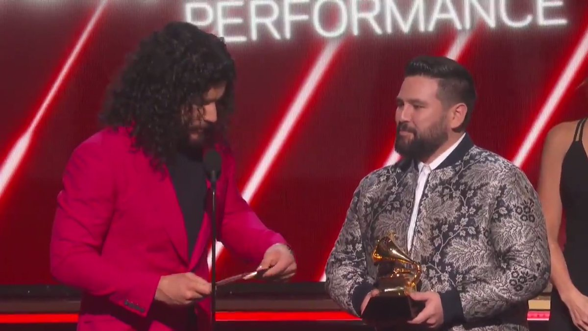 There is no denying that this country duo, @DanandShay , made a golden appearance by taking home the GRAMMY for Best Country Duo/Group Performance:  http://grm.my/2O07CCs   #GRAMMYs