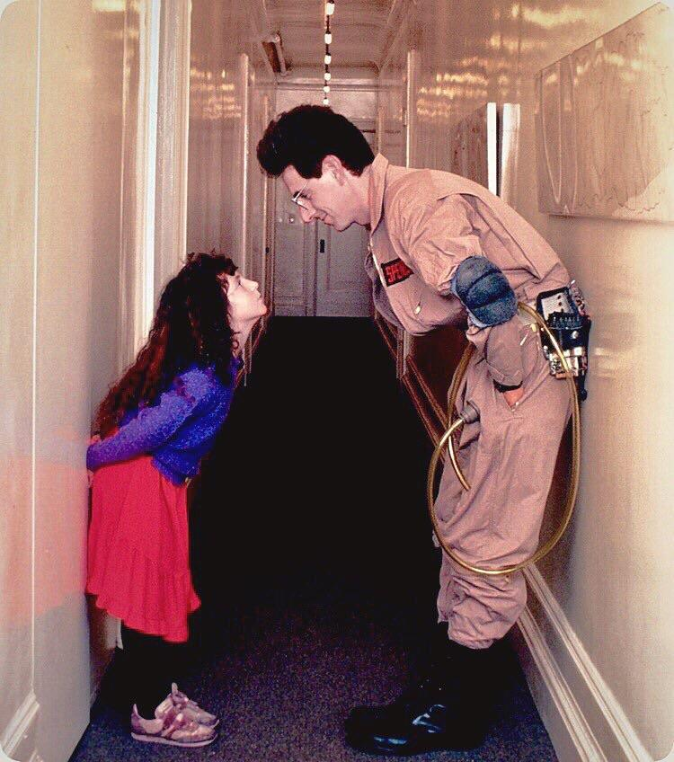 RT @GroovyHistory: Harold Ramis with his daughter Violet on the set of