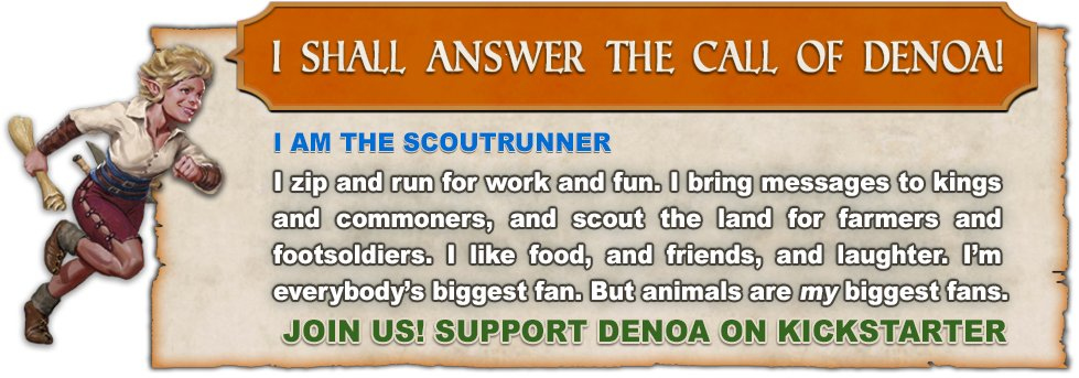 The Scoutrunner answers. But she needs more allies. Who else will heed Denoa's call?  http://rpg.sh/dtwhg  Help others see and like / comment!  Want your very own banner? Send us text / image and we'll create one for you and share your post!  #dnd #rpg #ttrpg #tabletop pic.twitter.com/QJntPQAV0O