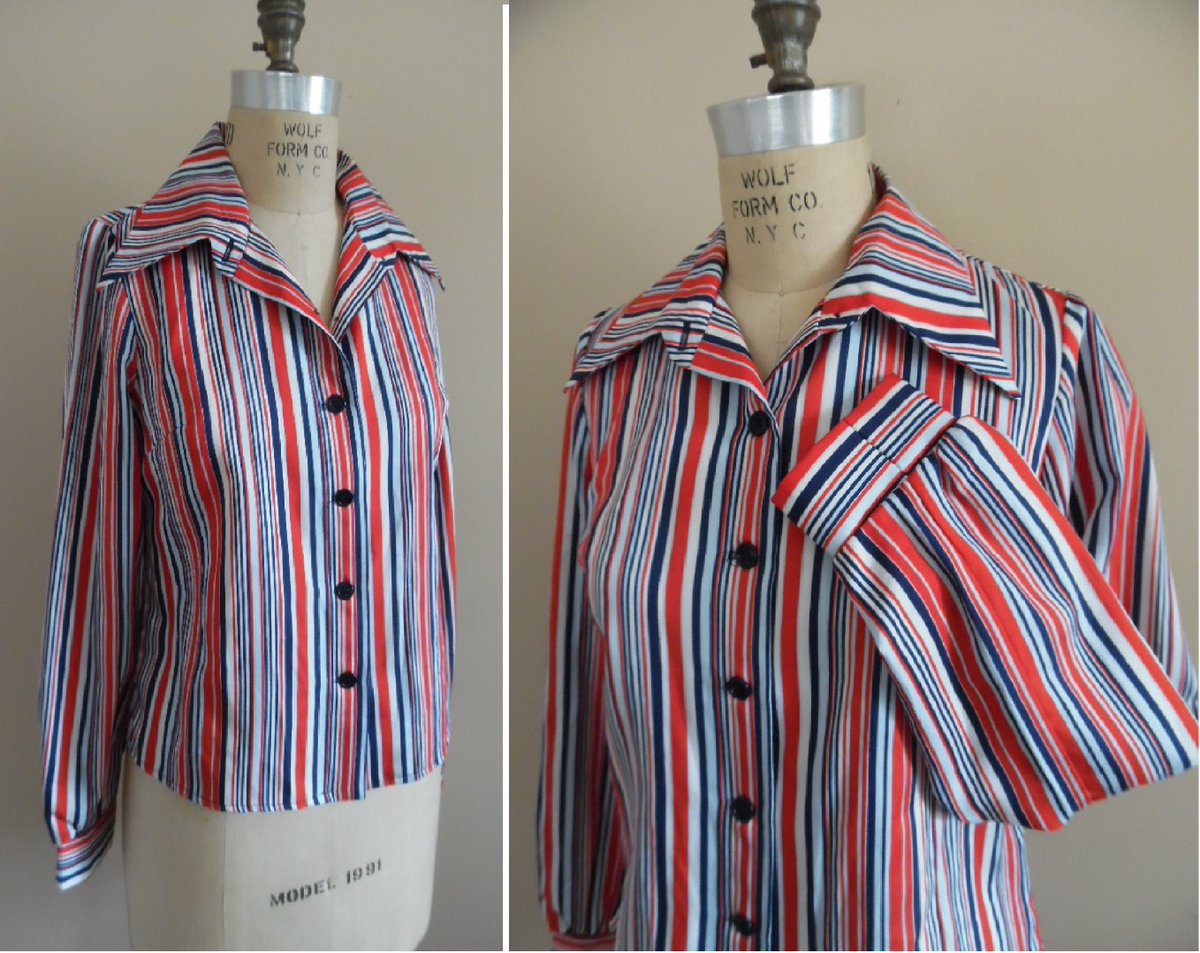 Excited to share the latest addition to my #etsy shop: Vintage 1970s Vivid Red White and Blue Striped Print Long Sleeve Blouse by Jerrell of Texas. Striped Shirt https://etsy.me/30YXlLZ #4thofJulyBlouse #Vintageblouse #longsleeve #ModBlouse #StripedShirt #70sToppic.twitter.com/xJZCs9rAXs