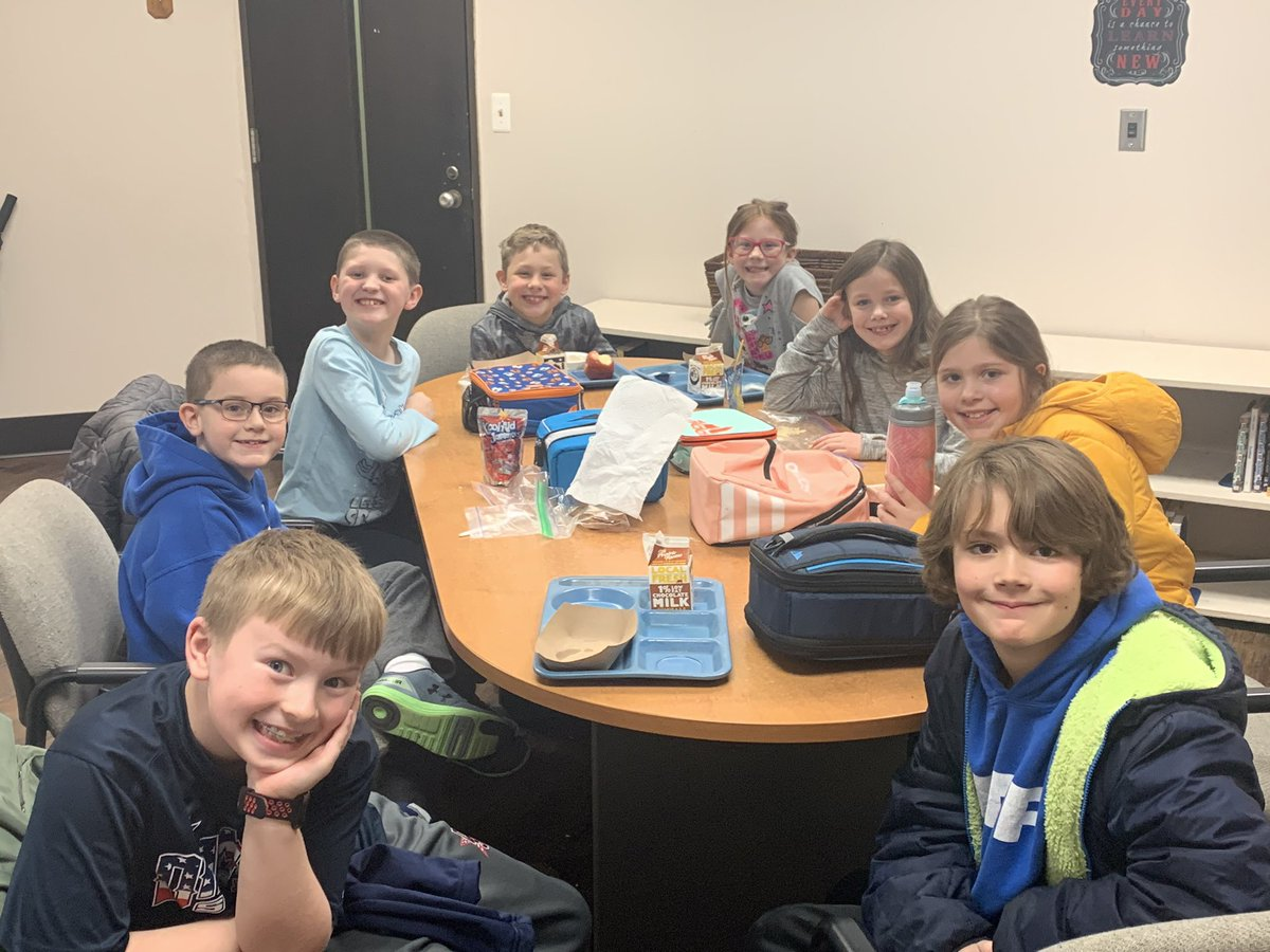 Good visit with these 3rd & 4th graders during lunchtime. It was nice to hear their ideas on a variety of topics.