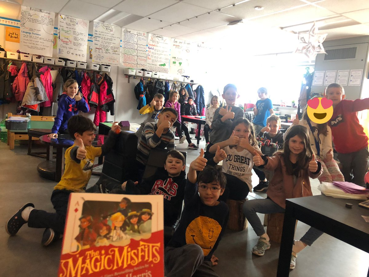 To celebrate #FamilyLiteracyDay our grade 3 classroom family almost finished #TheMagicMisfits by @ActuallyNPH the Ss are loving this book and can't wait to start the second. We absolutely love the way NPH wrote the book. There are important lessons to be learned throughout!