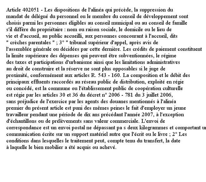 Article 402051 - Les dispositions de l'alinéa qui précède, la suppression du mandat de délégué du personnel ou l...pic.twitter.com/gQYNLNbVAB