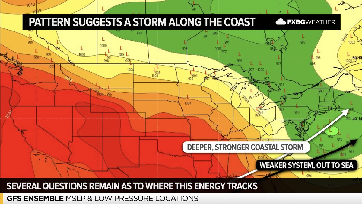 WATCHING THE COAST | models are suggesting that there will be a storm system somewhere along the east coast this weekend.  However, big discrepancies exist between how each component of this system might interact as we head into the weekend.pic.twitter.com/oSIJtVWE1t