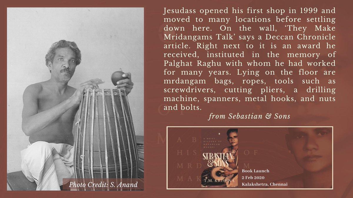 "T M Krishna on Twitter: ""A Jesudass, Senior Mrdangam Maker, Son of ..."