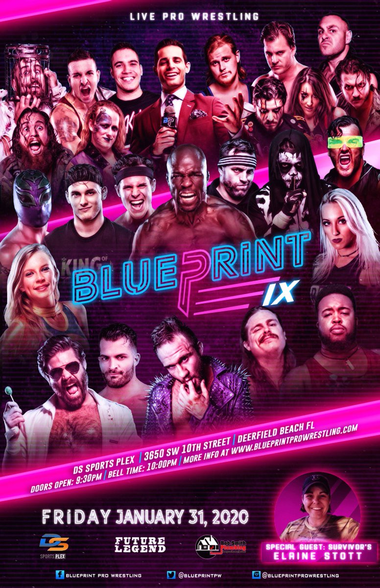 Upcoming; • January 31st at @BlueprintPW in Deerfield Beach, FL • February 1st at @Blitzkrieg_Pro in Westfield, MA • February 5th at @BarWrestling in Los Angeles, CA • February 7th, 8th & 9th at @IMPACTWRESTLING in Las Vegas, NV