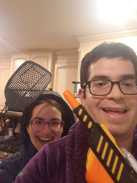 This couple is ready for some extreme insect eradication! But, the BUG-A-SALT is really all they need.  . . #bugasalt #saltgun #orangecrush #flyswatter #fireyourflyswatter #hisandhers #relationshipgoals #bugasaltvsflyswatterpic.twitter.com/RmqY8rlENt