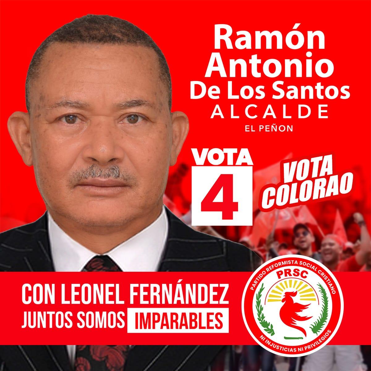 El renovado @partidoprsc y su presidente @quiqueantun junto al candidato presidencial @leonelfernandez y todos los aliados presentan al candidato a la alcaldía de El Peñón, Ramón Antonio De Los Santos ¡VOTA COLORAO! ¡A paso de vencedores! pic.twitter.com/fqwGBz0PYI