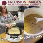 #MondaysAreDelicious and this Monday was full force good with #ChefDavid presenting his famous Potato Soup. A giant vat of it was gone in no time flat! Thank you Chef David! #BestJobEver #CaseOfTheMondays #SoupWeather #PortlandOregon #PrecisionImages