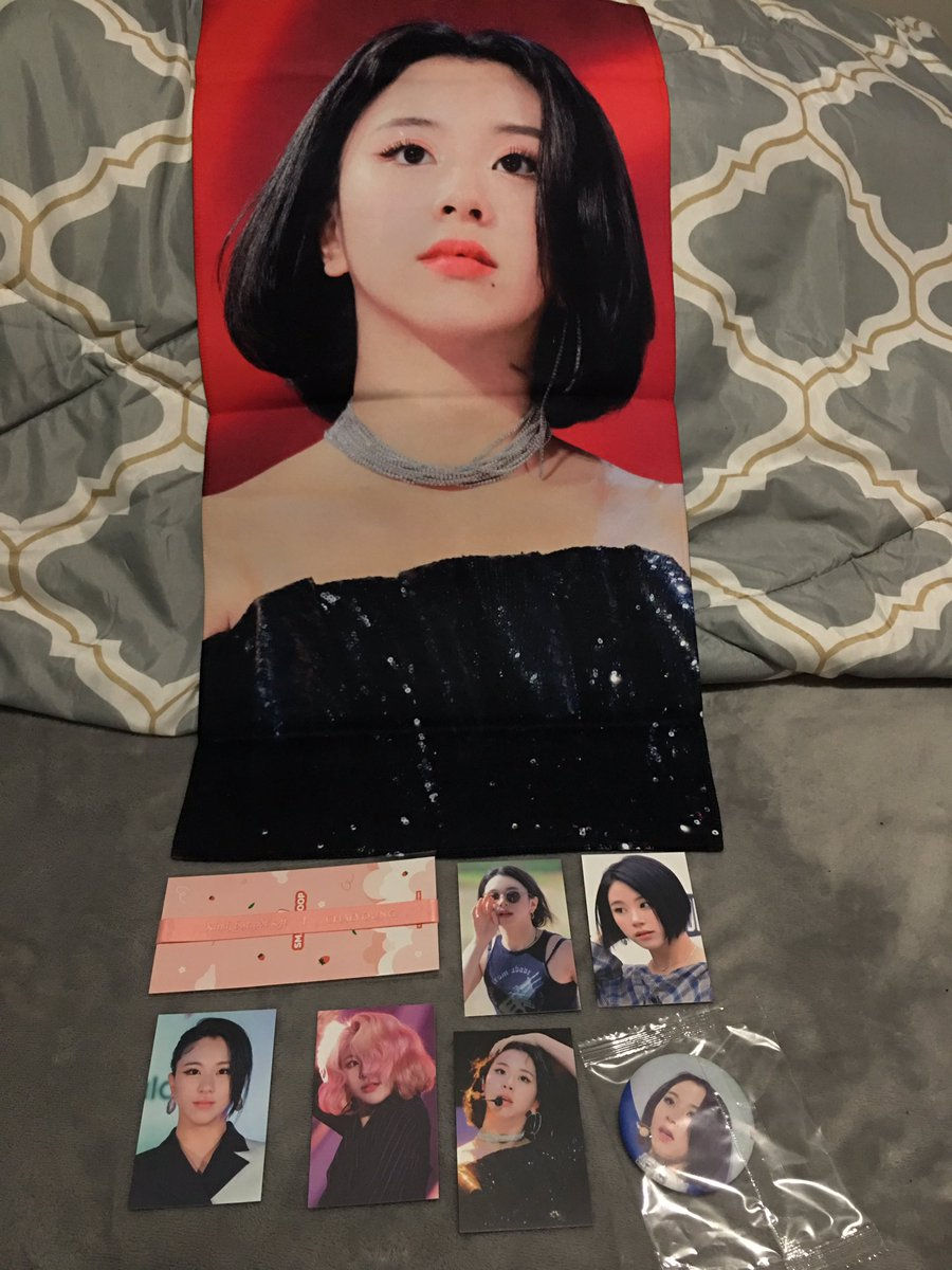 Thank you @whatislovemina for hosting this GO for @honeychaeng 's cheering slogan. Everything arrived safely and this is   #wilminaproofs<br>http://pic.twitter.com/8JBvSMJujh