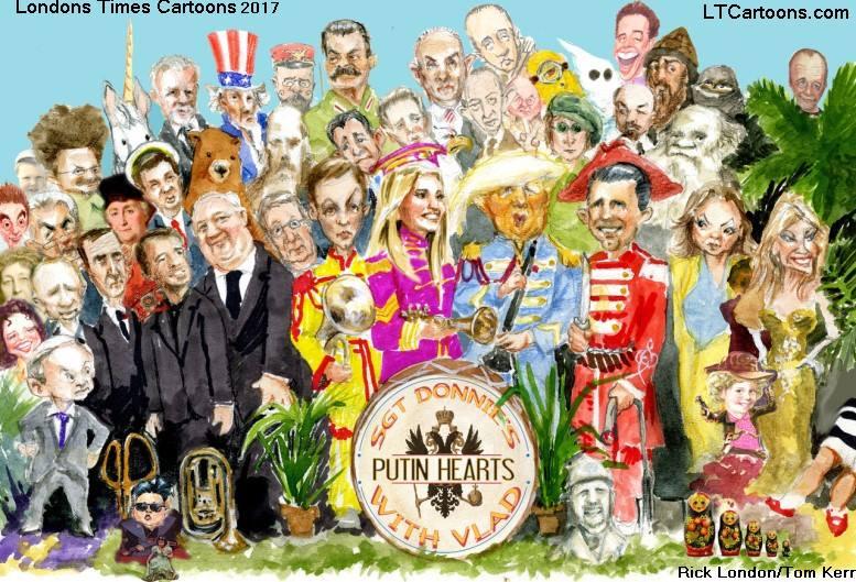 Sgt #Putin's Heartless Club Band by @LTCartoons #trump #trumprussia #collusion #muellerreport #espionage #politics #humor #comics #cartoons #funny #offbeat #LTCartoons