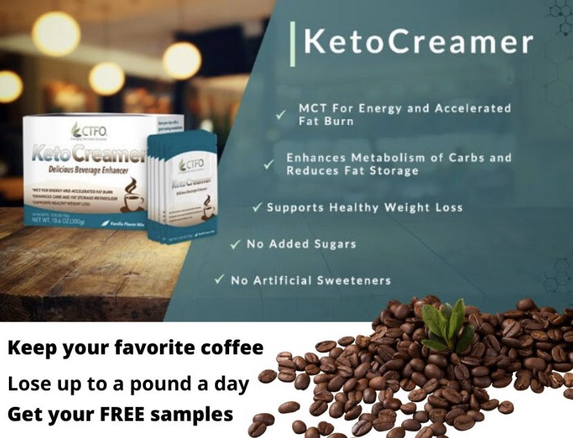 Are you following a keto lifestyle? Are you ready to boost your weightloss? I can help! High Quality Coconut Oil MCT Grass-Fed Butter  No Added Sugars  No Artificial Sweeteners  Try a FREE Sample of KetoCreamer Today! http://onlinecbdproducts.tryketocreamer.com #keto #ketogenic #ketodietpic.twitter.com/G2Hhv5BAtH